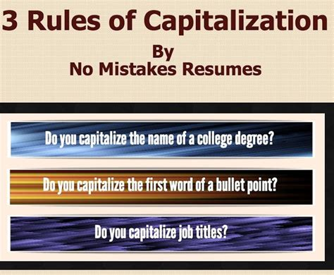 do you capitalize titles in cover letters 3 for capitalization on resumes giacomo giammatteo