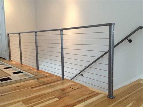 Cable Stair Railings Interior by Custom Interior Cable Railing With 3 16 Quot Stainless Steel