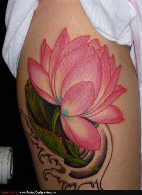 lotus tattoo colour lotus tattoos page 11