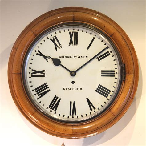 in light clock light oak wall clocks giving your home the