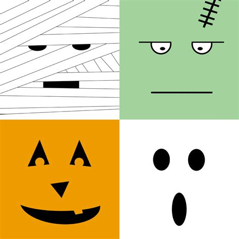 printable ghost faces cliparts co