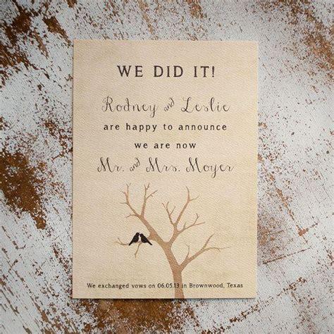 Wedding Announcement Rustic by Rustic Wedding Announcement Wedding Announcements The