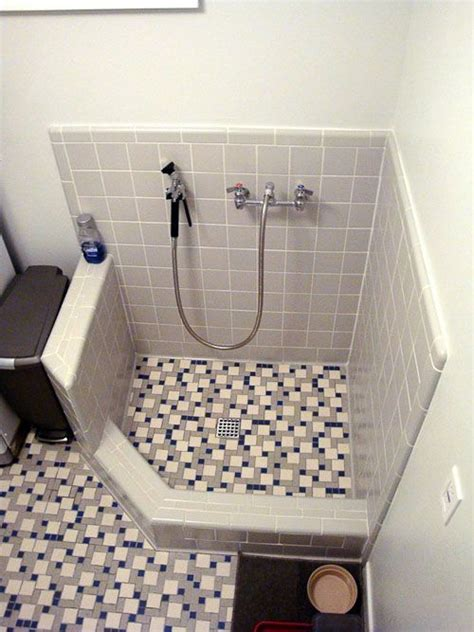 pet bathtub for dogs natalie and graham add retro daltile and a dog shower