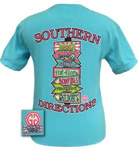 girlie original southern directions from simply tees