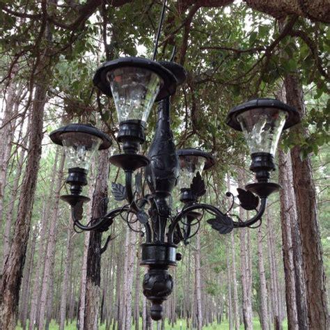 solar outdoor chandelier solar chandelier outside
