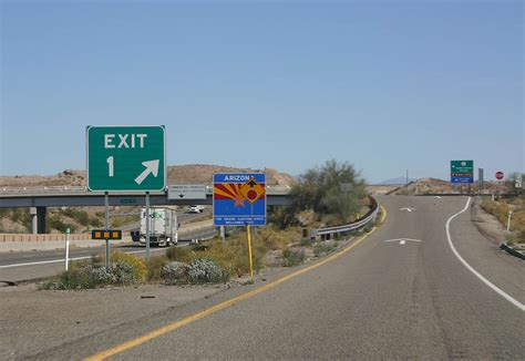 exit west arizona aaroads interstate 40 east california to kingman