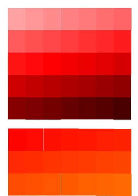 shades of red color chart shades of red colour chart home design