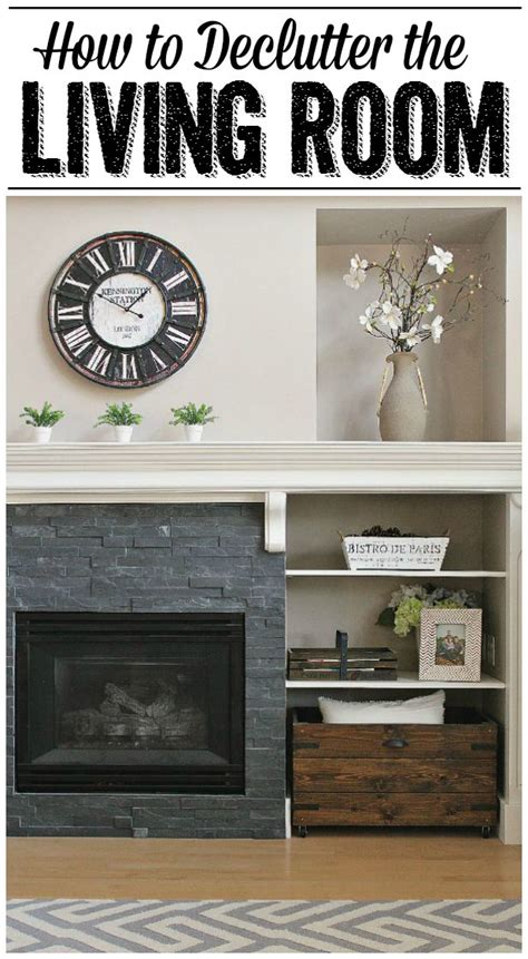 how to declutter the living room clean and scentsible
