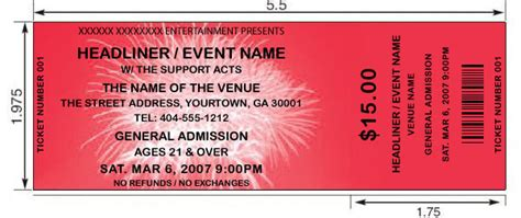 fireworks theme tickets design print and make your own