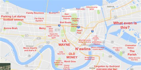 map of new orleans the judgmental map of new orleans
