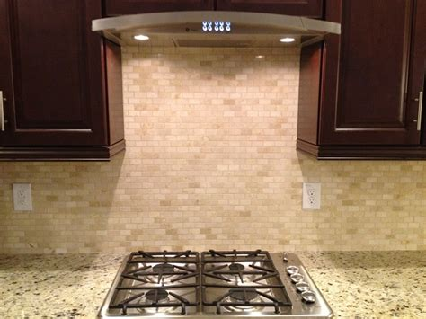 mini subway tile kitchen backsplash crema marfil mini subway tile kitchen reno 2014