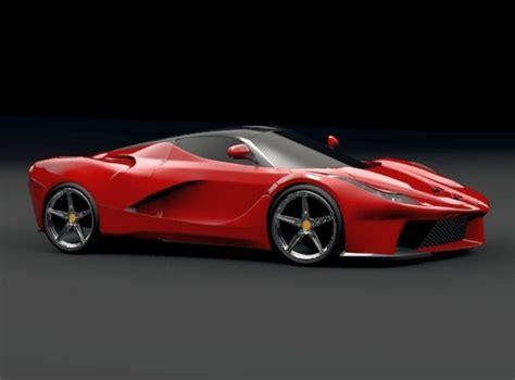 La Ferrari Model by La Ferrari Concept 2013 Restyled 3d Model Obj 3ds Fbx