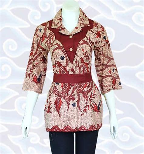blouse batik bm127 di http senandung net blus batik wanita modern baju atasan blus batik