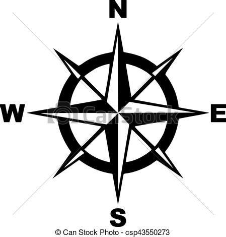 Sud Nord Est Ovest by Illustrations Vectoris 233 Es De Ouest Est Sud Nord Compas