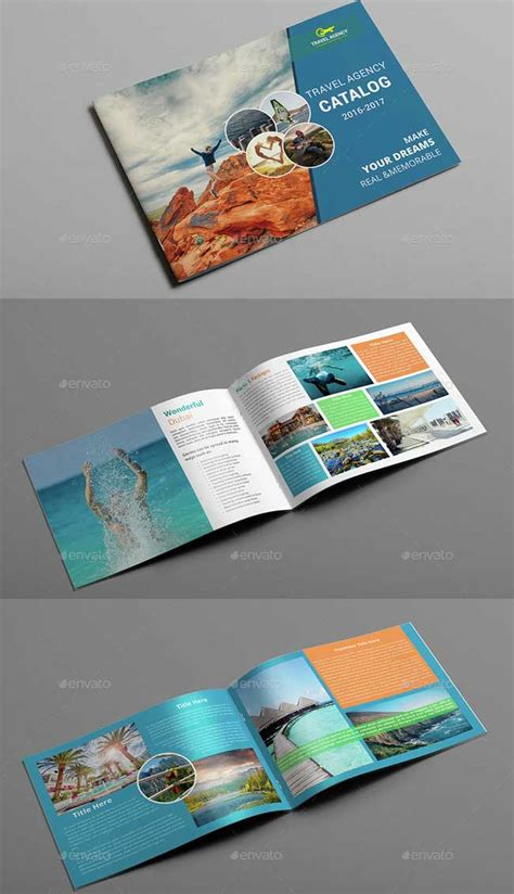 40 Best Travel And Tourist Brochure Design Templates 2018 Designmaz Catalogue Brochure Templates