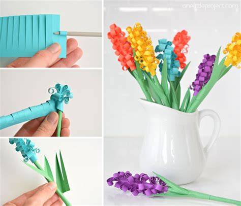 How To Make A Simple Flower Out Of Paper - how to make paper hyacinth flowers
