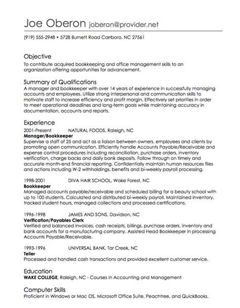 resume employment history format order of employment on resume