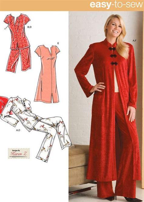 kimono pajama pattern plus size lounge sleepwear sewing pattern nightgown