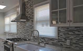 gray glass tile kitchen backsplash kitchen dining enhance kitchen decor with mosaic