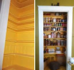 kitchen in a closet creating a pantry out of a small closet