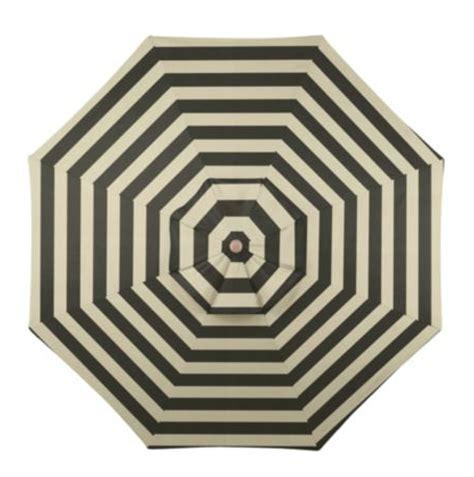 Ballard Design Canopy Striped Outdoor Umbrella   copycatchic