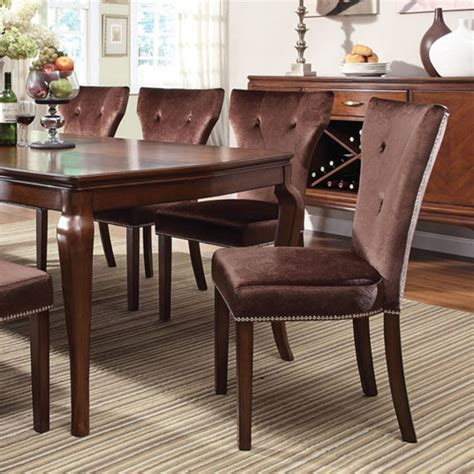 Cherry Finish Dining Table Dreamfurniture Kingston Brown Cherry Finish Dining Table Set
