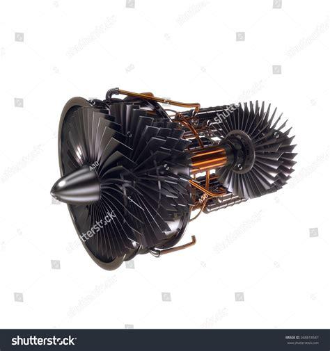 jet engine cross section cross section of modern airplane jet engine turbine stock