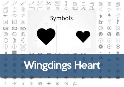 heart pattern with keyboard symbols wingdings font heart symbol