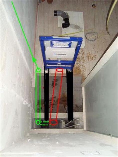 inbouwreservoir toilet stuk standleiding verslepen wm toilet aansluiten