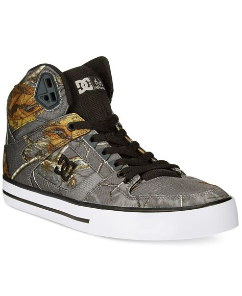 dc high top shoes for dc shoes spartan real tree high tops in gray for lyst