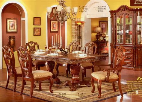 classic dining room tables cherry finish classic formal dining room table w optional