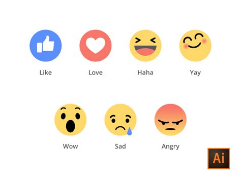 emoji fb facebook emoji ai freebies by ahmed mu dribbble