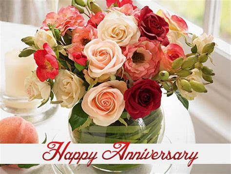 Wedding Anniversary Flowers by Happy Anniversary And Images Anniversary Cards