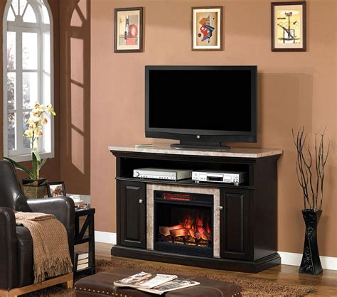 Brighton Fireplace by Brighton Electric Fireplace Media Console In Coffee Black