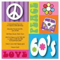 hippie heaven birthday invitations www paperdivas au 60 s 70 s theme