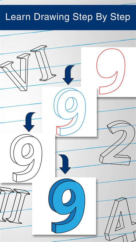 Draw 3d Numbers