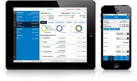 mobile tablet bmo investorline apps bmo