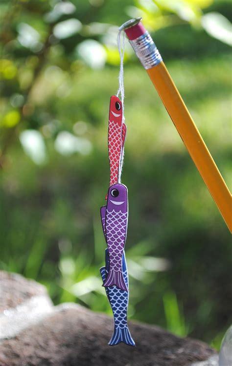 pattern for japanese fish kite zakka life craft project miniature boy s day kites