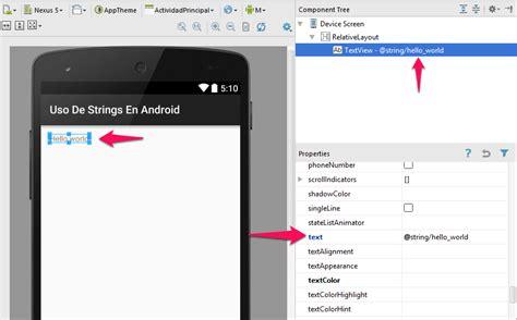 android string uso de strings en android como recursos de texto