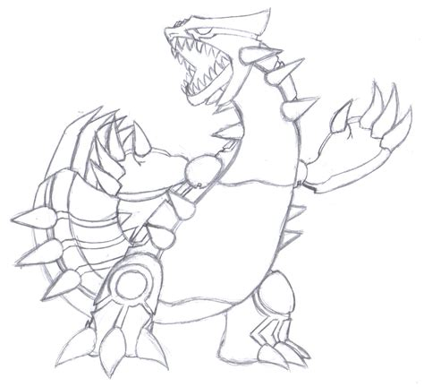 free coloring pages of pokemon of groudon