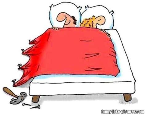 bed jokes marriage bed covers cartoon funny joke pictures