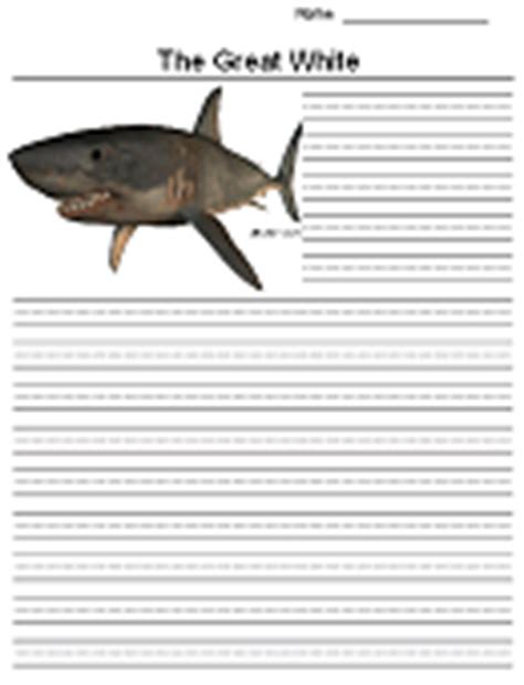 shark writing paper sharks and rays report pages