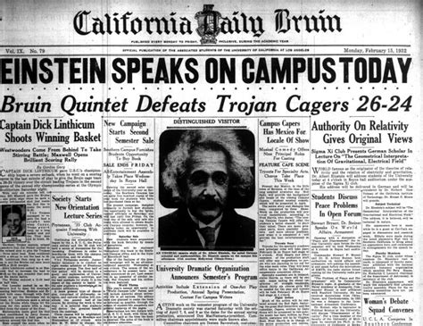 newspaper the institute throwback thursday albert einstein gives lecture on gravity electric fields at royce