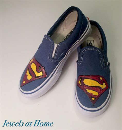 superman house shoes hand painted superman shoes jewels at home