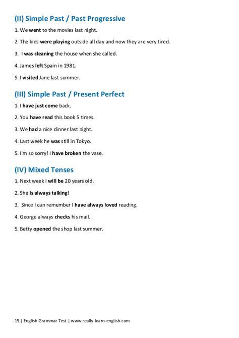 grammar test free grammar test for