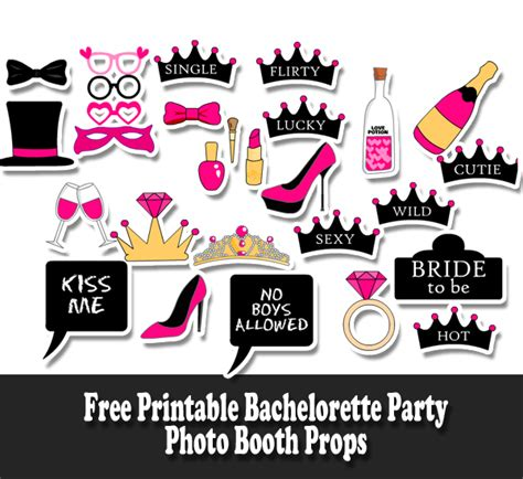 printable photo booth party props free printable bachelorette party photo booth props