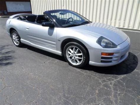 electric and cars manual 2001 mitsubishi eclipse engine control sell used 2001 mitsubishi eclipse spyder gt in 5559 madison ave indianapolis indiana united