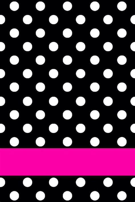 Portable Polka Dots Pattern black n white dots pink stripe wallpapers