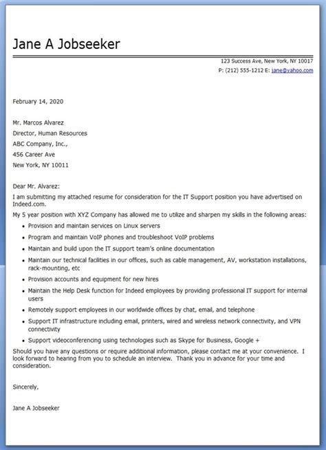 professional cover letter format examples my blog