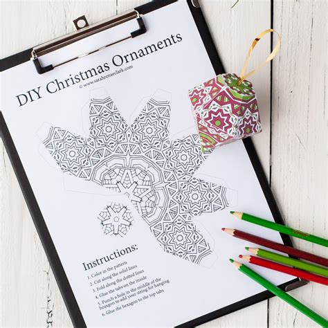 printable paper decorations free christmas ornament template sarah renae clark